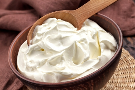 yaourts: Cr�me Banque d'images