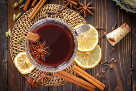 mulled: Mulled wine Stock Photo
