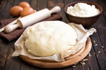 haciendo pan: Masa Foto de archivo