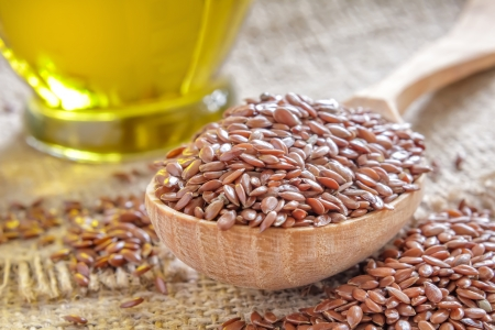 flaxseed: Flax seeds Stock Photo