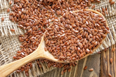 a seed: Flax seeds Stock Photo