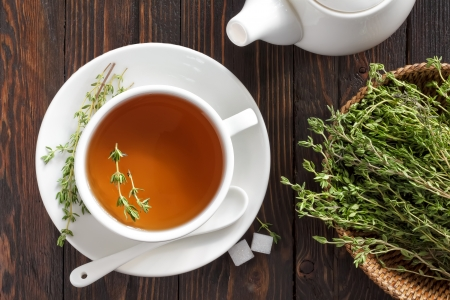 Thyme tea Stock Photo