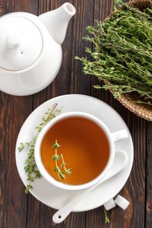 Thyme tea Stok Fotoğraf