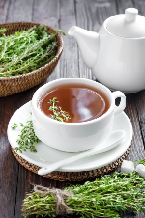 stimulated: Thyme tea Stock Photo