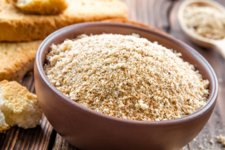 breading: Breadcrumbs Stock Photo