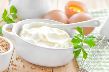 Mayonnaise Stock Photo