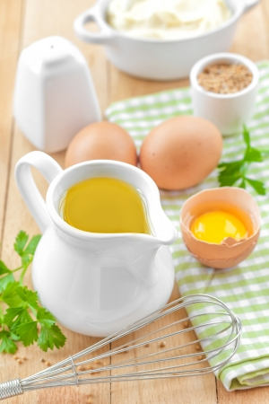 beater: Ingredients for mayonnaise