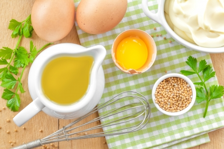 Ingredients for mayonnaise photo