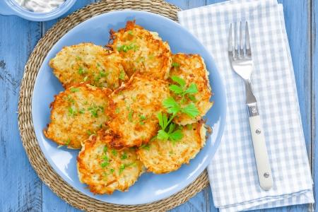 fritter: Potato pancakes Stock Photo
