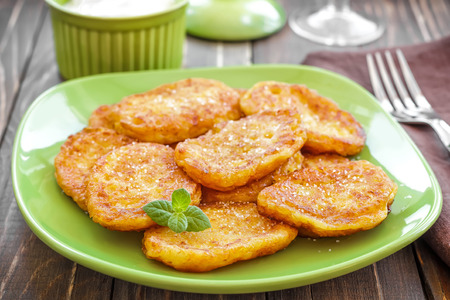 browns: Fritters Stock Photo