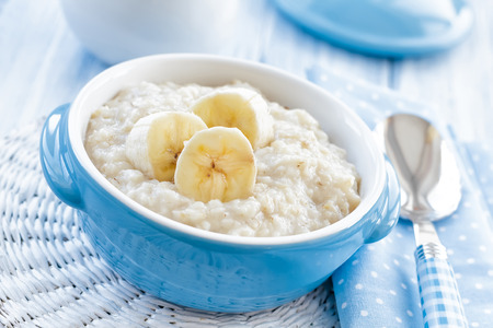 Oatmeal with banana photo