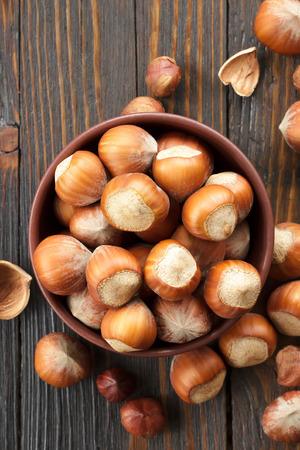 unbroken: Hazelnuts Stock Photo