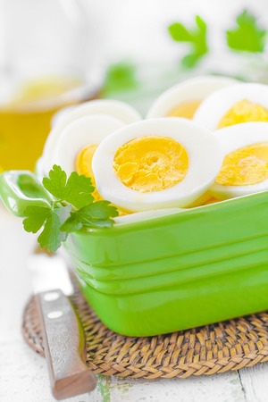 Boiled eggs photo