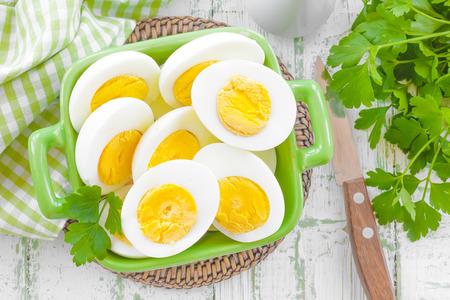 Boiled eggs photo