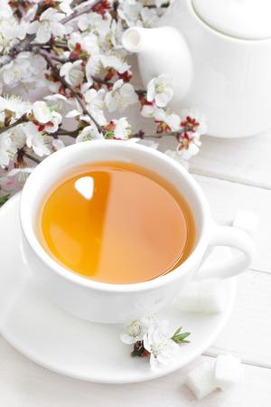 stimulated: Tea in a white cup
