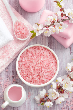 Spa with pinks concept