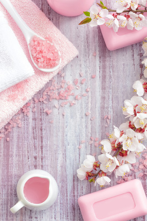Spa met roze-concept Stockfoto - 26323853