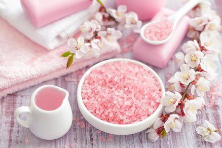 Spa con rosa concetto Archivio Fotografico - 26323858