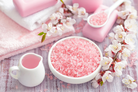pinks: Spa with pinks concept