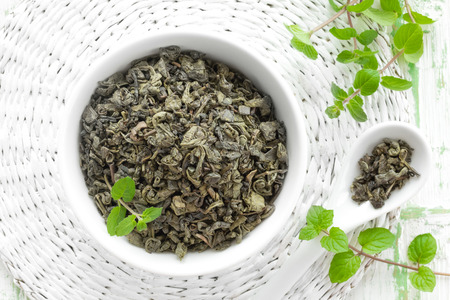 basswood: Tea with mint