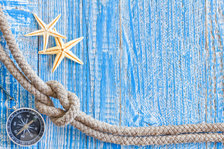 Sea shells and marine rope