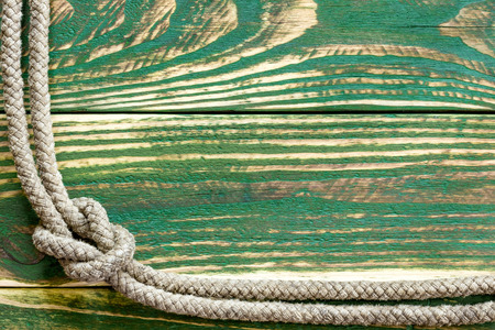 Marine rope knotted photo