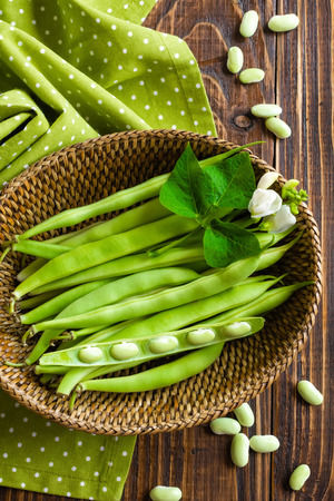 french bean: Green beans Stock Photo