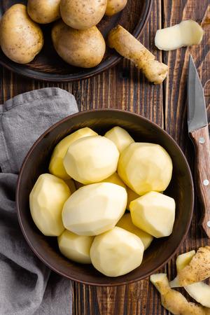 Peeled potatoes Фото со стока