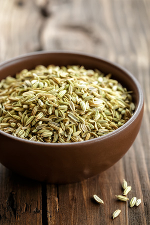 fennel seed: Fennel seeds Stock Photo
