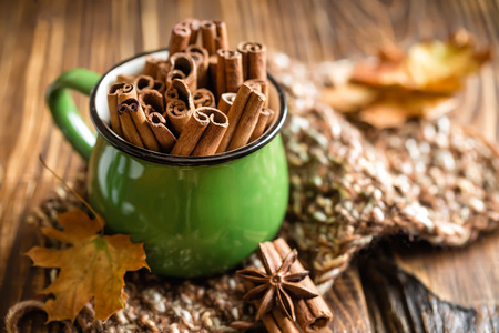 christmas spice: A of Cinnamon sticks