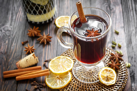 Mulled wine Standard-Bild