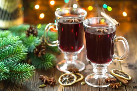 cocteles de frutas: Navidad vino caliente