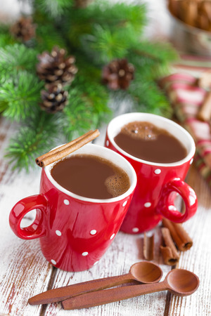 coffee in red cups photo