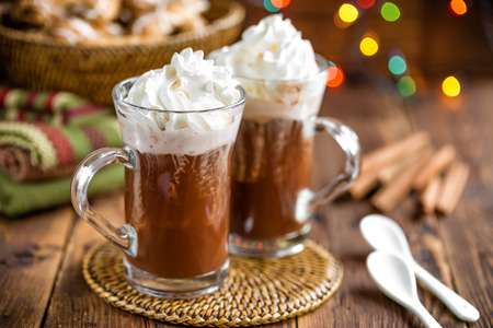 hot beverage: Hot chocolate Stock Photo