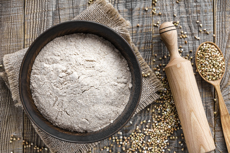 Buckwheat flour Stock Photo