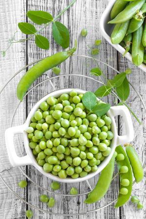 green pea: green peas Stock Photo