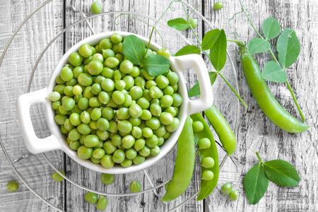 green peas: green peas Stock Photo