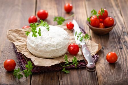 queso fresco blanco: queso Foto de archivo