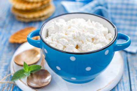 kefir: cheese cottage Stock Photo
