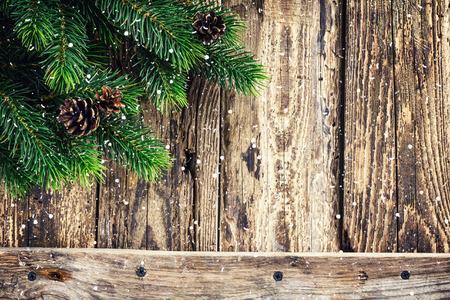 madera r�stica: Fondo de Navidad