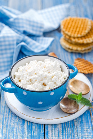 cottage: cheese cottage Stock Photo