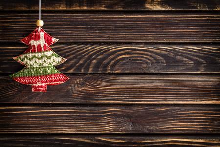 madera r�stica: decoraci�n de navidad Foto de archivo