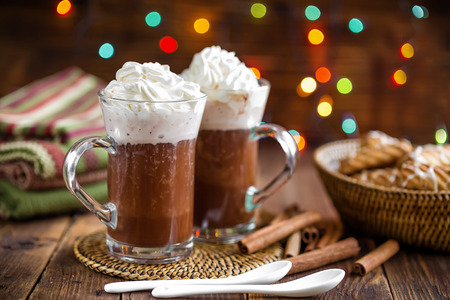 coffee mugs: hot chocolate