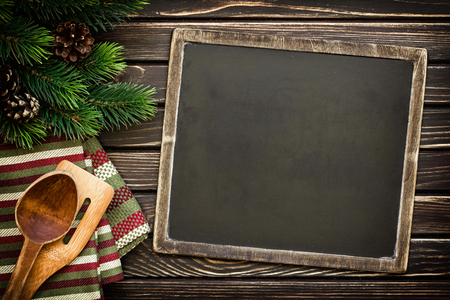 christmas cooking: chalkboard background