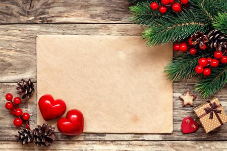 navidad elegante: San Valentín día de tarjeta del corazón del amor Foto de archivo