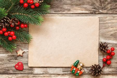 postcard: Carta a santa  Foto de archivo