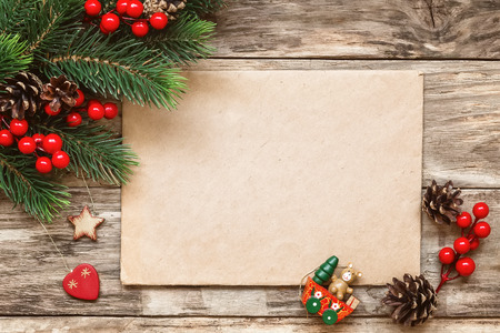 letter envelope: letter to santa Stock Photo