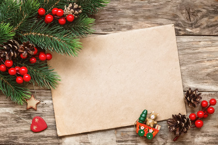 traditional christmas: letter to santa Stock Photo