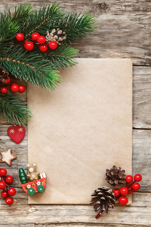 happy holidays: letter to santa Stock Photo