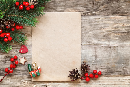 old letters: letter to santa Stock Photo